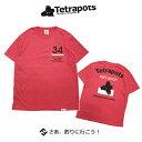 テトラポッツ COドライTEE TPT039ピンク Tシャツ 半袖 Tetrapots CO DRY TEE PINK【1枚までメール便OK】 通販 釣り具 フィッ…