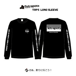 テトラポッツトリプスロングスリーブTPT-045ブラックTシャツ長袖TetrapotsTRPSLONGSLEEVEBLACK【1枚までメール便OK】通販釣り具フィッシングTシャツウェアウエア半袖モンパチモンゴル800高里悟