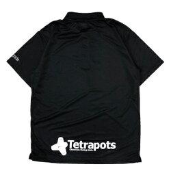 テトラポッツテトラポロブラックポロシャツTPP-005S〜XLモンゴル800(テトラポット)TetrapotsTETRAPOLO/BLACK釣り具フィッシングポロシャツウェアウエア半袖磯釣りフカセモンパチモンゴル800高里悟重ね