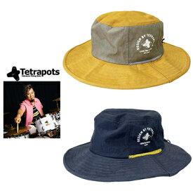 【あす楽対応】テトラポッツ 帽子 TPアドベンチャーハット Tetrapots TP Adventure Hat 釣り具 フィッシング 帽子 ハット 撥水 フカセ ルアー モンパチ モンゴル800 高里悟