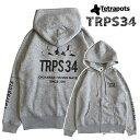 【あす楽対応】テトラポッツ テトラポッツパーカー TPO-017 グレー 長袖 Tetrapots TRPS PARKA GRAY釣り具 フィッシング Tシャツ …