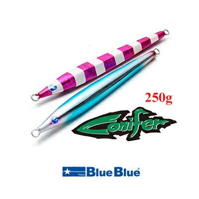 ブルーブルー メタルジグ コニファー 250g ノーマルカラー Blue Blue Conifer 250g Normal Colors 【メール便1個までOK】釣具 フィッシング メタルジグ ルアー 仕掛け おすすめ 青物 ヒラメ ジギング タックル 通販 オフショア 船
