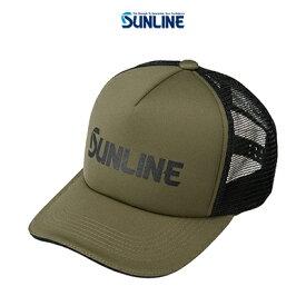 【あす楽対応】サンライン メッシュキャップ CP-3818 カーキ F (4968813974528) SUNLINE mesh CAP CP-3818 帽子 /釣り/釣り具/フィッシング/帽子/キャップ/