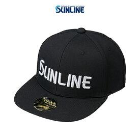 【あす楽対応】サンライン フラットキャップ CP-3983 ブラック F (4968813974566) SUNLINE FLAT CAP CP-3983 帽子 /釣り/釣り具/フィッシング/帽子/キャップ/
