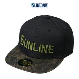 【あす楽対応】サンライン フラットキャップ CP-3983 カモ F (4968813974580) SUNLINE FLAT CAP CP-3983 帽子 /釣り/釣り具/フィッシング/帽子/キャップ/