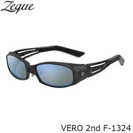 Zeque ゼクー ジールオプティクス 偏光サングラス F-1324 VERO 2nd ALL MATTE BLACK TRUEVIEW SPORTS×BLUE MIRROR 釣り フィッシング アウトドア メンズ レディース 偏光グラス 偏光レンズ ZEAL OPTICS GLE4580274166887