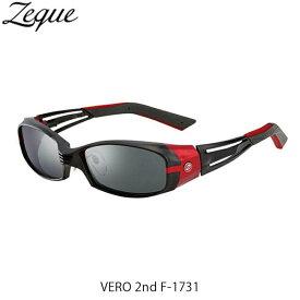 ゼクー Zeque ZEAL OPTICS 偏光サングラス F-1731 VERO 2nd MATTE BLACK/RED TRUEVIEW FOCUS/SILVER MIRROR ヴェロ セカンド GLE4580274169024