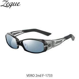 Zeque ゼクー ジールオプティクス ZEAL OPTICS 偏光サングラス 偏光グラス 偏光レンズ VERO 2nd F-1733 BLACK×GRAY MASTER BLUE×SILVER MIRROR GLE4580274169048