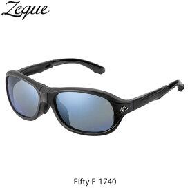 送料無料 Zeque ゼクー ジールオプティクス ZEAL OPTICS 折りたたみ式偏光サングラス Fifty F-1740 フィフティ フレームMATTE BLACK レンズTRUEVIEW SPORTS×BLUE MIRROR GLE4580274167266