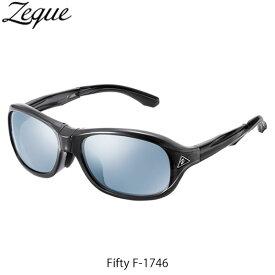 Zeque ゼクー ジールオプティクス ZEAL OPTICS 折りたたみ式偏光サングラス Fifty F-1746 フィフティ フレームCLEAR BLACK レンズMASTER BLUE×SILVER MIRROR GLE4580274167327