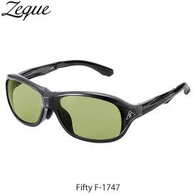 Zeque ゼクー ジールオプティクス ZEAL OPTICS 折りたたみ式偏光サングラス Fifty F-1747 フィフティ フレームCLEAR BLACK レンズEASE GREEN GLE4580274167334
