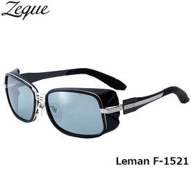Zeque ゼクー ジールオプティクス ZEAL OPTICS 偏光サングラス Leman レマン F-1521 ブラック×シルバー マスターブルー×シルバーミラー グレンフィールド GLE4580274164944 釣り フィッシング アウトドア メンズ レディース 偏光グラス 偏光レンズ