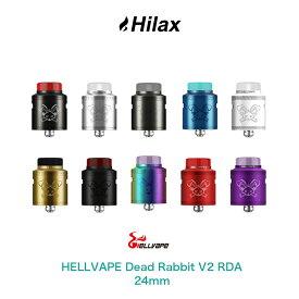 【送料無料】 HELLVAPE Dead Rabbit V2 RDA 24mm ヘルベイプ デッドラビット アトマイザー ドリッパー BF スコンカー 対応 爆煙 電子タバコ VAPE ベイプ RBA DL デットラビット デトラビ 死兎 スコンカー Hilax