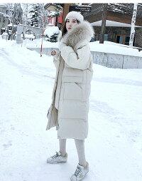 コートレディース冬長袖ロングコートコート帽子付きファーアウタージャンパージャケットロング丈ゆったり大きいサイズ前開き厚手暖かい防寒撥水無地送料無料