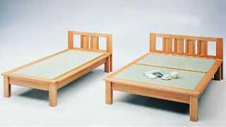 【送料無料・日本製】天然素材でしっかり仕上げた畳ベッド・セミダブルベッド ベット
