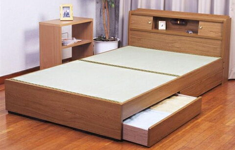 日本製畳ベッドの決定版ダブル:送料無料ベッド ベット