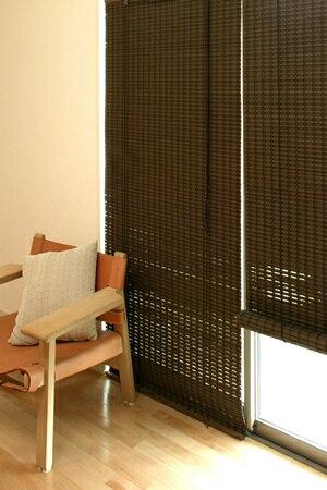 バンブースクリーン:ニュアンス88x135cm:送料無料 和風アジアン ロールアップスクリーン 竹