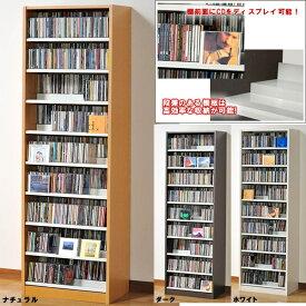収納力抜群!CD・DVD奥行2段タンデムストッカー:幅590:送料無料 TCS590