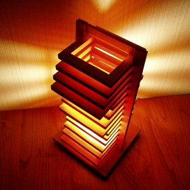 FlamesHIKIDASHI(引き出し)◇木製可動卓上スタンド【インテリア照明】:送料無料 kkskd