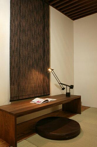 バンブースクリーン:カスリ176x180cm:和風アジアン:送料無料 ロールアップスクリーン 竹