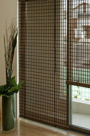 バンブースクリーン:ビレッジ176x180cm:送料無料 和風アジアン ロールアップスクリーン 竹