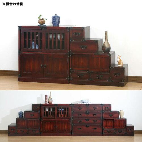 民芸和家具◇茶だんす:::::完成品和風家具チェストディスプレイラック:画像2