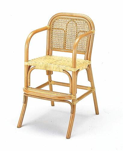 ライフinラタン◇籐キッズチェア(子供椅子):ハイタイプ座面高44cm:【籐・アジアン】:画像2