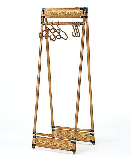 ライフinラタン◇折りたたみ式ハンガーラック:【籐・アジアン】:画像3