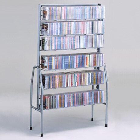 【本屋さんの】本棚とCDラック【ディスクスタンド6段:単独型】:送料無料