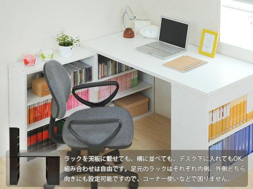 書斎机・本棚3個セット