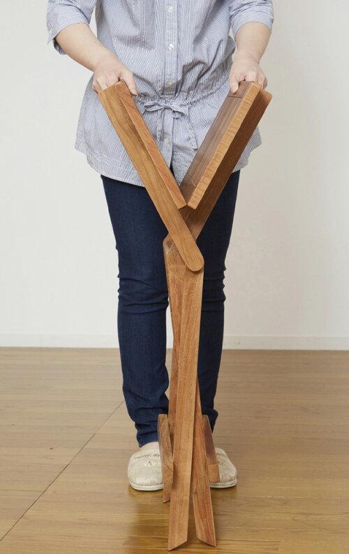 世界三大銘木の天然木チーク材使用折りたたみテーブル