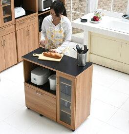 食器棚付きキッチンカウンターレンジボード