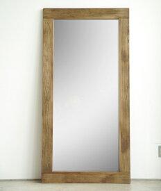 天然木古材仕様全身鏡90x180cm