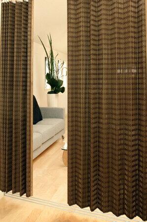バンブーカーテン:ニュアンス100x175cm【1枚組】:送料無料 和風アジアン 竹