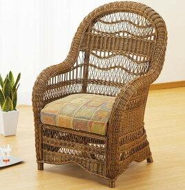籐 ラタン アジアン セレブ ダイニング チェア 椅子 一人掛けソファ カフェチェア