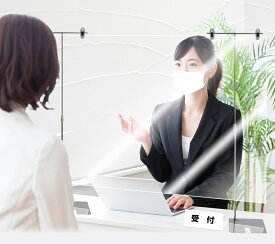 お得 スタンド10本&透明ビニールパーティション卓上セット販売ウイルス飛沫対策スタンド高さ約36-70cm。透明ビニールシートは85×200cm分です。お好みのサイズにカット可能です kkkez アクリル板に代わる素材