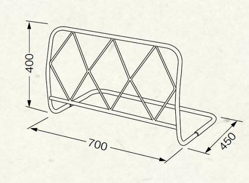 ベッドガード:Cタイプ700:サイドガードベッドフェンス柵:送料無料