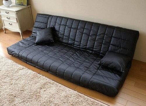 日本製マルチリクライニングラブソファー低反発合皮レザー