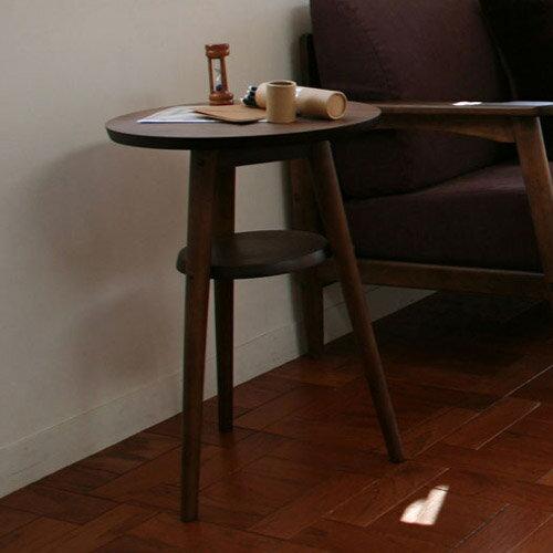 【emo.(エモ)】レトロモダン◇サイドテーブル丸型:送料無料【ミッドセンチュリー 北欧】