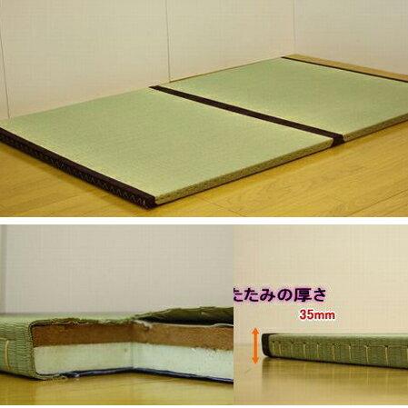 日本製たたみベッドダブル受注生産::国産本イグサ(井草)使用:送料無料 ベッド ベット