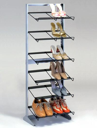 【靴屋さんの】シューズラック6段ワイド::画像1