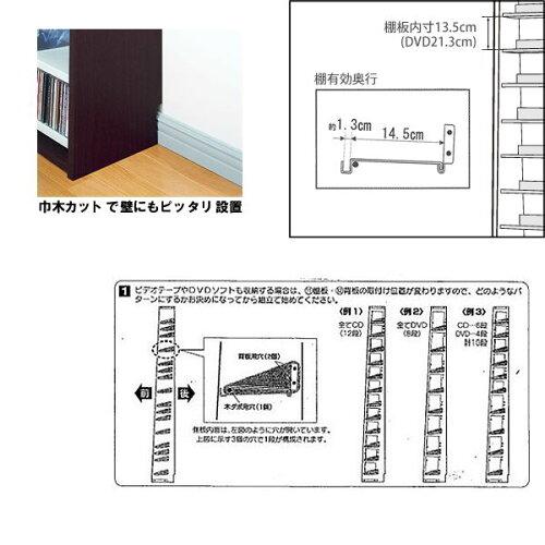 【コレクター用】1668枚収納CDストッカー(DVD対応):トールタイプXL::画像3