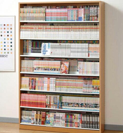 【最大1078冊!】段違い収納コミック本棚::画像1