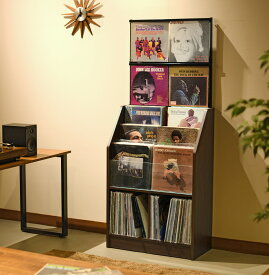 日本製 レコードコレクションラック280枚収納可能