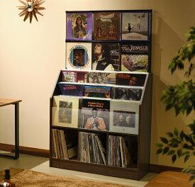 日本製 レコードコレクションラック大型420枚収納可能