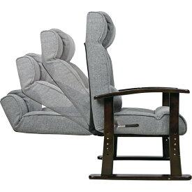 レバー式リクライニング高座椅子