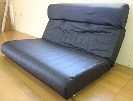 日本製ハイバックラブソファー2人掛け 脚なし 合皮レザー