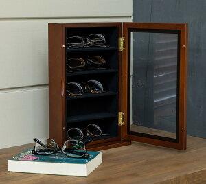 メガネスタンド木製眼鏡コレクションケース5本収納