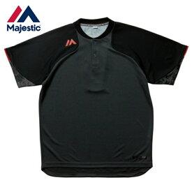 マジェスティック Majestic 野球 半袖Tシャツ Authentic Tech 2 button Training SS Tee グレー XM01-GRY5-MAJ-0006