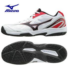 ミズノ(Mizuno) ブレイクショット OC (BREAK SHOT OC) 61GB174109 ホワイト×ブラック×レッド 2017年モデル テニスシューズ メンズ レディース オムニクレー